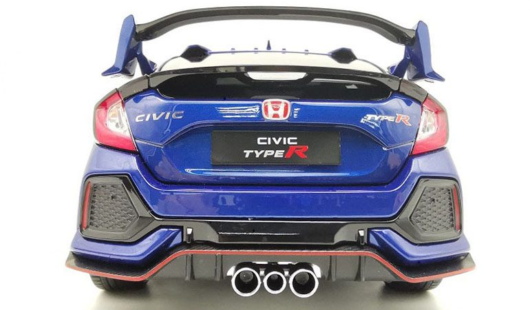 Honda Civic Type-R FK8 colore blu scala 1/18
