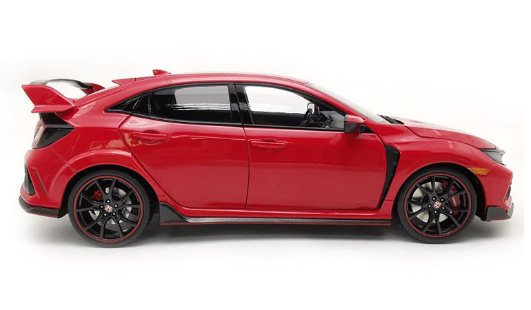 Honda Civic Type-R FK8 colore rosso scala 1/18