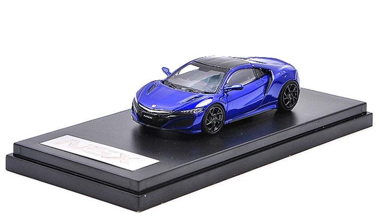 Modellino Honda NSX LCD Models in scala 1/64 blu