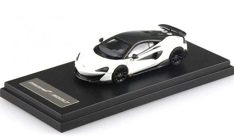 McLAREN 600LT modellino da collezione di colore bianco scala 1/64. LCD Models