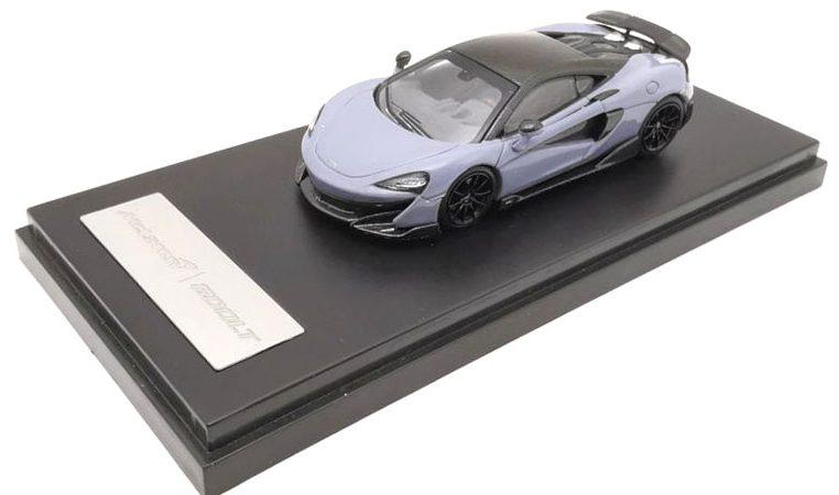McLAREN 600LT modellino da collezione di colore grigio scala 1/64. LCD Models