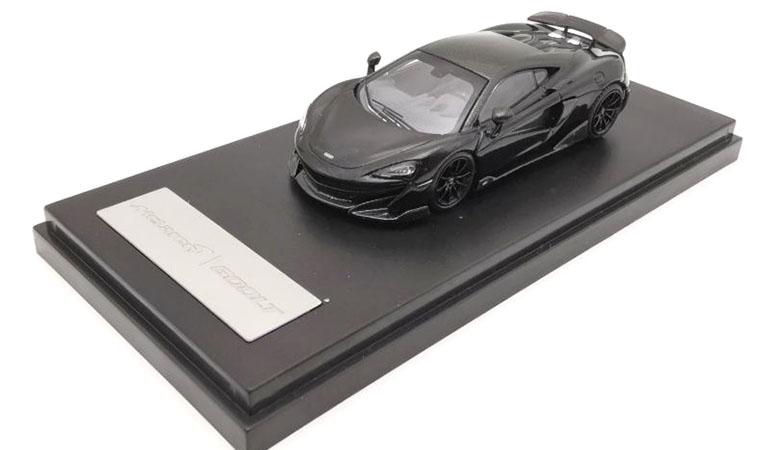 McLAREN 600LT modellino da collezione di colore nero scala 1/64. LCD Models